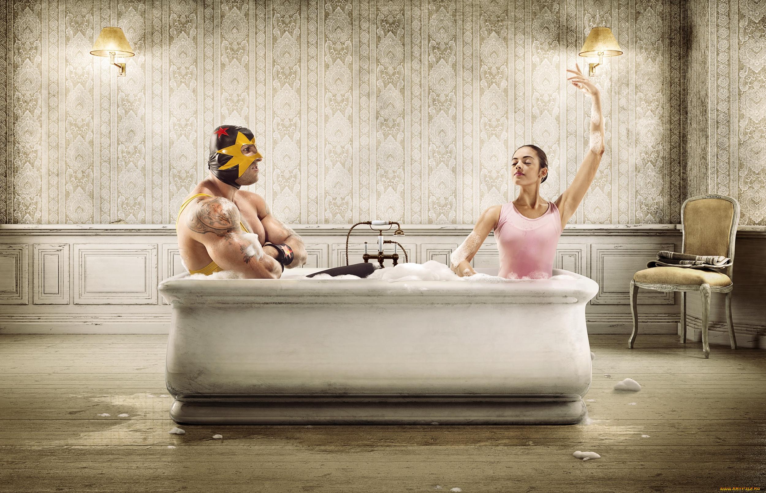Смешные картинки про ванну
